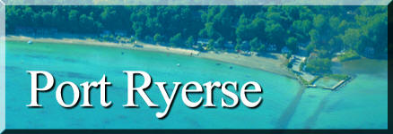 photograph of Port Ryerse Beach, Norfolk County on Lake Erie, Ontario's South Coast, link to Port Ryerse Ontario