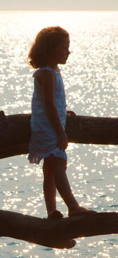 Photograph of girl near Port Dover on the Gold Coast, South Coast of Ontario, Norfolk County on Lake Erie